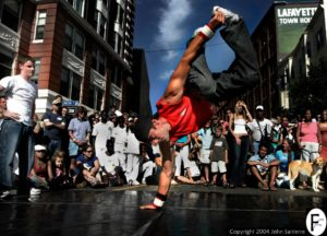 Dance Instructor Jim Giroux Performing on the Street